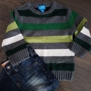 Boys Striped Sweater (24 mos)